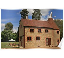Oast house in Kent England Poster