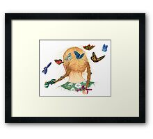 Butterfly Braid Song Framed Print