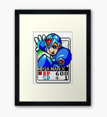 Mega Man X Framed Print