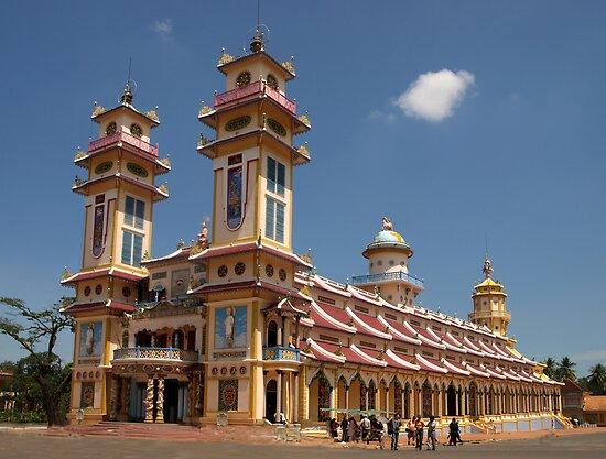 Cao Dai Temple at Tay Ninh, west of Ho Chi Minh City, Vietnam by Bev Pascoe