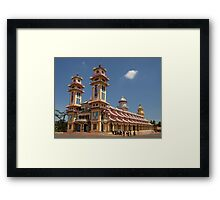 Cao Dai Temple at Tay Ninh, west of Ho Chi Minh City, Vietnam Framed Print