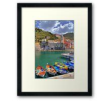 Vernazza - Five Lands - Marina Framed Print