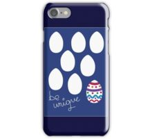Unique Easter card iPhone Case/Skin