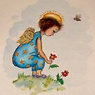 Angel picking Flower by Lorna Gerard
