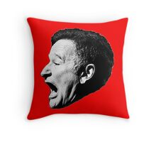 Robin Williams funny scream Throw Pillow