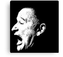 Robin Williams funny scream (BLACK T-SHIRT) Canvas Print