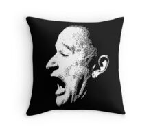 Robin Williams funny scream (BLACK T-SHIRT) Throw Pillow