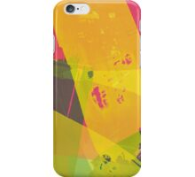 Pink, Yellow and Green Brush Stroke Watercolor Abstract iPhone Case/Skin