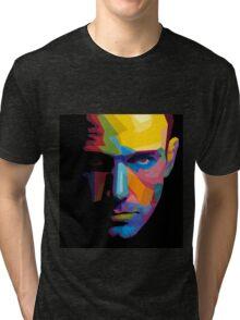 Ben Affleck batman portrait Tri-blend T-Shirt