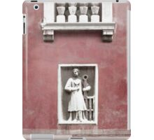Venetian Balcony and Sculpture on Marsala Wine Red iPad Case/Skin