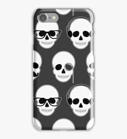 Hipster Skulls Pattern iPhone Case/Skin
