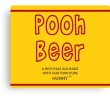 Pooh Beer Canvas Print