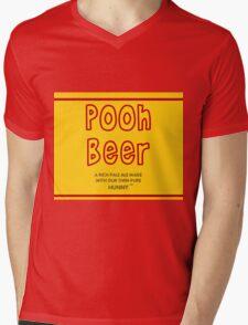 Pooh Beer Mens V-Neck T-Shirt