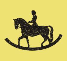 rocking horse chair riding  Kids Tee