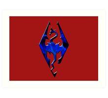Blue Skyrim Logo Art Print