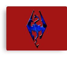 Blue Skyrim Logo Canvas Print