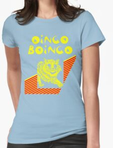 Oingo Boingo cat Womens Fitted T-Shirt