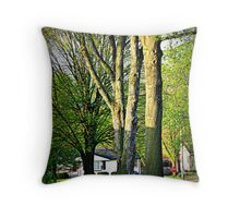 Trees In The Neighborhood Throw Pillow