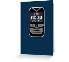 Sherlocked Phone Greeting Card