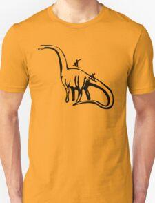 snowboarding on dinosaurus Unisex T-Shirt