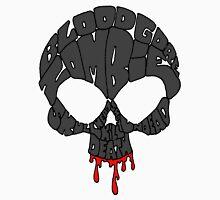 Word Skull Black Unisex T-Shirt