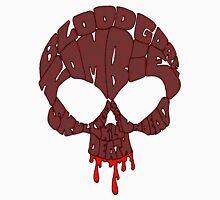 Word Skull Red Unisex T-Shirt