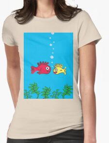 Romantic Fishies Womens Fitted T-Shirt