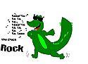 Rockin out gator by kittykittypaw