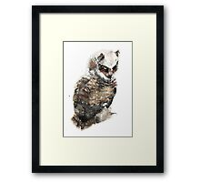 Owl just keep my eye on you. Framed Print