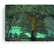 Tree in a puddle Canvas Print