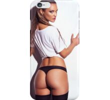 Sexy young woman back in shirt and underwear art photo print iPhone Case/Skin