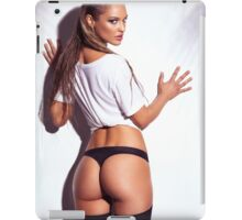 Sexy young woman back in shirt and underwear art photo print iPad Case/Skin