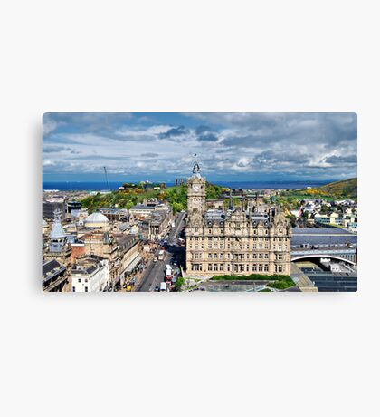 East End Of Princes Street Canvas Print