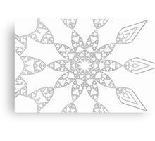 Purity - Silver Star Canvas Print