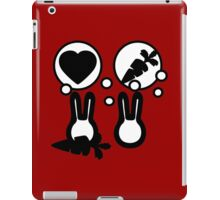 hell with bunny love parody -  take carrot iPad Case/Skin