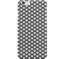 Art Deco Wave Pattern - black and white iPhone Case/Skin
