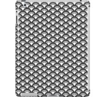 Art Deco Wave Pattern - black and white iPad Case/Skin