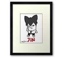 BTS - Jin Hiphop Monster Framed Print