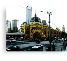 Photograph of Flinders Street Station Melbourne Canvas Print