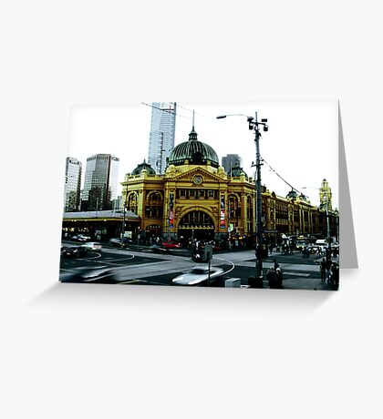 Photograph of Flinders Street Station Melbourne Greeting Card