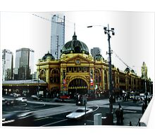 Photograph of Flinders Street Station Melbourne Poster