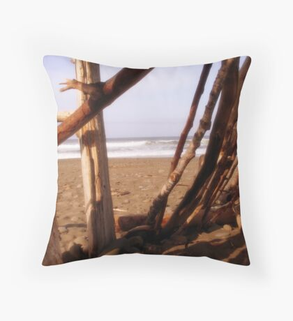 A Play Fort with a View Throw Pillow