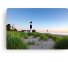 Summer Evening at Big Sable Point Lighthouse - Ludington Michigan Canvas Print