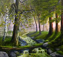Daybreak in the Forest by Wayne2015
