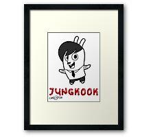BTS - Jungkook Hiphop Monster Framed Print