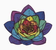 Rainbow flower by maggiepuffle