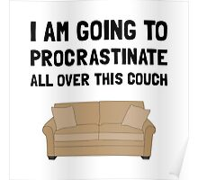 Procrastinate Couch Poster