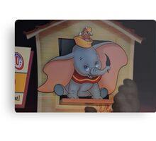 Disney Dumbo Baby Elephant Disney Magic Feather Character Metal Print