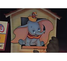 Disney Dumbo Baby Elephant Disney Magic Feather Character Photographic Print