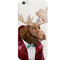 Moose In Maroon iPhone Case/Skin